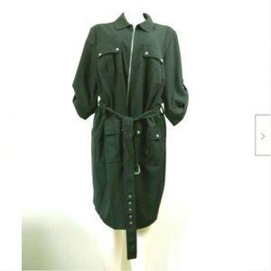 Michael Kors Roll Tab Sleeve Dress